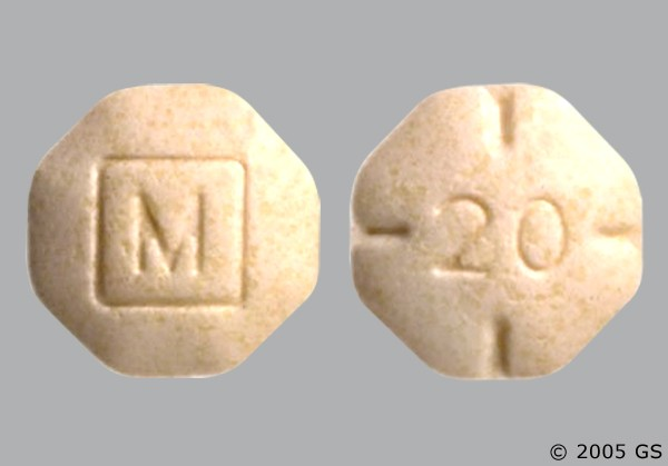 Photo of the drug Adderall.