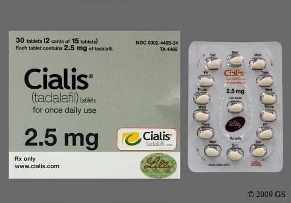 Photo of the drug Cialis (generic name(s): TADALAFIL).
