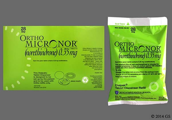 Photo of the drug Ortho Micronor.